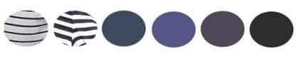 noir blanc bleu rayures gamme