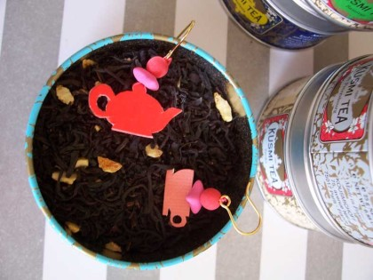 boucle d'oreille thé sur thé