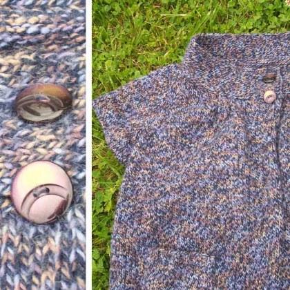 veste tricotée par mamie