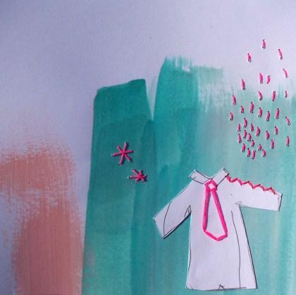 sous une pluie rose