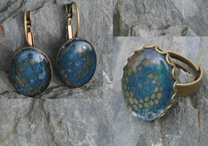 bijoux dentelle bleue