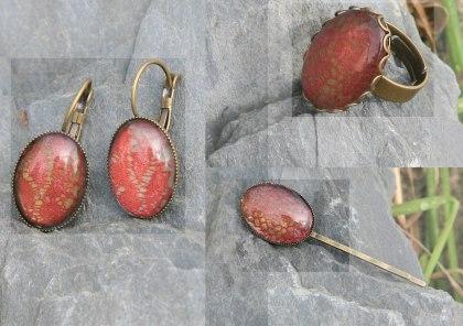 bijoux dentelle rose